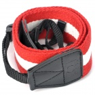 Adjustable Fabric Neck / Shoulder Sling Strap for DSLR - Red + White (60cm)