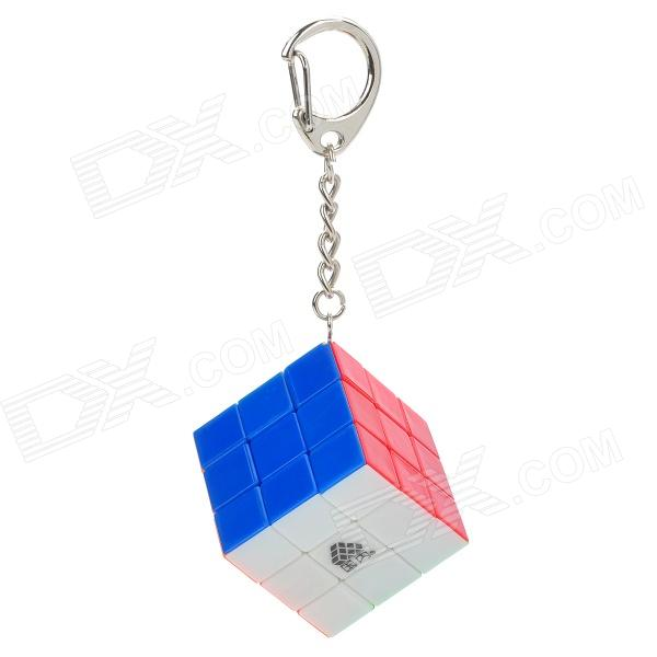Brain Teaser 3x3x3 Smooth Magic IQ Cube with Keychain mini 3x3x3 brain teaser magic iq cube keychain