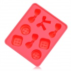 Silicone Candy Shaped Ice Cubes Trays Maker DIY Mould - Red