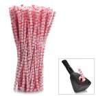 Cotton Smoking Pipe Cleaning Rod Set - Red + White (80-Piece)