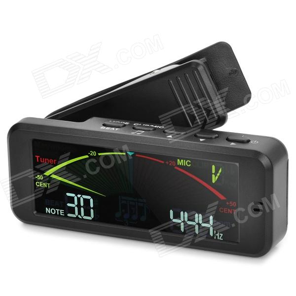 Flanger FMT-209 3.2 LCD Digital Acoustic Clip-on Tuner Metronome Tone Generator - Black (2 x AAA) fmt 60 2 0 lcd digital 3 in 1 metronome tuner tone generator black 2 x aaa