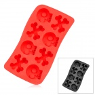 Silicone Skeleton Shaped Ice Cubes Trays Maker DIY Mould - Random Color