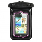 Universal Waterproof Bag with Armband / Strap for iPhone / Cell Phone - Black + Pink