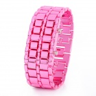 New Concept Lava LED Red Backlight Wrist Watch - Pink (1 x CR2032)