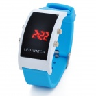 Simple Square Digital LED Wrist Watch - Blue (1 x CR2032)