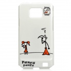 Cute Cartoon Style Protective PC Back Case for Samsung i9100 - White