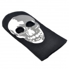 Stylish Skull Pattern Cosplay Face Mask - Black + White