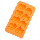 Silicone Duck Shaped Ice Cubes Trays Maker DIY Mould - Orange