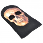 Stylish Skull Pattern Cosplay Face Mask - Black + Earth Yellow