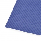 3D Carbon Fiber Paper Decoration Sheet Car Sticker - Blue (50 x 200cm)