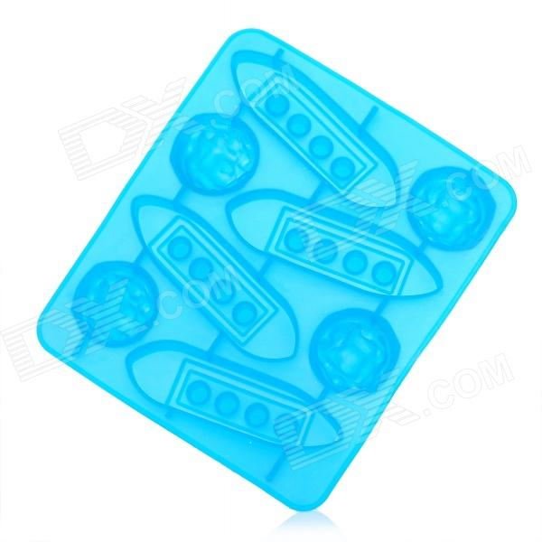 Silicone Titanic Design Ice Cubes Trays Maker DIY Mould - Blue