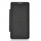 Lychee Pattern Replacement Battery Back Case w/ Front PU Leather Cover for Samsung i9100 - Black