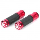 Aluminum Alloy Bike Bicycle Handle Bar Grips - Red + Black (Pair)