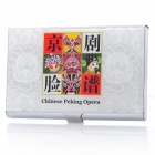 Chinese Peking Opera Faces Pattern Business Card Case (Holds 15-Card)