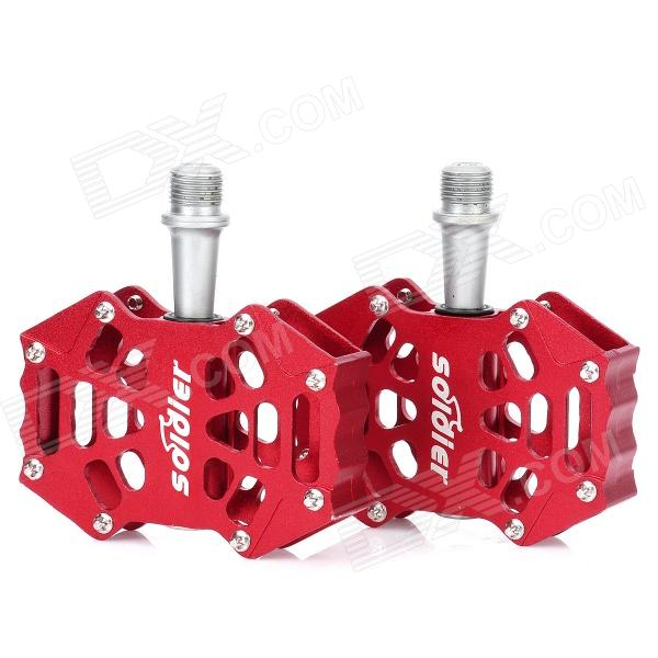 Replacement Aluminum Alloy Bike Bicycle Pedal - Red (Pair) b 055 outdoor cycling aluminum alloy bike pedal set blue