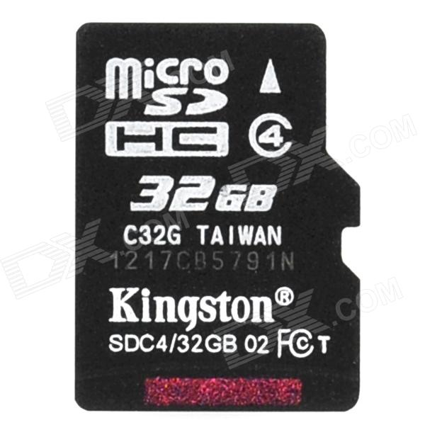 Kingston Micro SDHC TF Memory Card - 32GB (Class 4) genuine kingston micro sdhc tf card black 32gb class 10