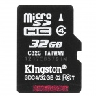Kingston Micro SDHC TF Memory Card - 32GB (Class 4)