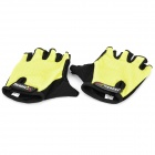 Outdoor Sports Cycling Non-slip Half Finger Gloves - Yellow
