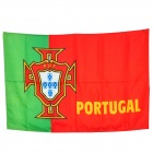 Sports Football Cheering Flag for Portugal Team - Green + Red (95 x 60cm)