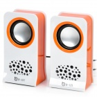B121-03 Fashion Portable Speakers - Orange + White