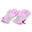 Outdoor Sports Long Fingers Non-slip Gloves - Pink + Grey (Pair)