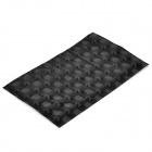 3D Carbon Fiber Paper Decoration Sheet Car Sticker - Black (20 x 12cm)