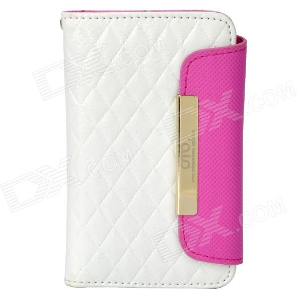 OMO Protective PU Leather Flip-Open Case for Iphone 4 / 4S - White protective pu leather flip open case for iphone 4 4s black