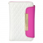 OMO Protective PU Leather Flip-Open Case for iPhone 4 / 4S - White