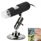 200x 2.0mp usb 2.0 wired digital microscope w/ 8 white leds / mount holder (140cm-cable)