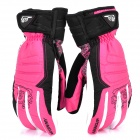 WONNY Outdoor Sports Body Building Non-slip Long Fingers Gloves - Pink + White + Black (Pair)