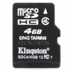 Genuine Kingston Micro SDHC / TF Memory Card (4GB / Class 4)