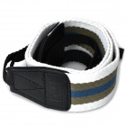 Adjustable Fabric Neck / Shoulder Sling Strap for DSLR - White + Grey + Blue (60cm)
