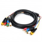 5RCA Male to 5RCA Male Component Video & Audio Connection Cable - Black (180cm)