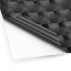 3D Carbon Fiber Paper Decoration Sheet Car Sticker - Black (20 x 30cm)