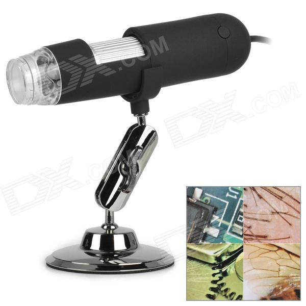 400X 1.3MP USB 2.0 Wired Digital Microscope w/ 8 White LEDs / Mount Holder (140cm-Cable)