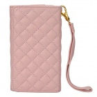 Wallet Style Protective PU Leather Case for Iphone 4 / 4S - Pink