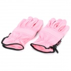 Outdoor Sports Long Fingers Non-slip Gloves - Pink + Black