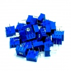 Precision 3386 3-Pin Trimmer Potentiometers - Blue (25-Piece Pack)