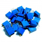 Precision 3296W 200ohm 3-Pin Trimmer Potentiometers - Blue (25-Piece Pack)