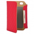 OMO Protective PU Leather Flip-Open Case for iPhone 4 / 4S - Red