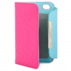 OMO Protective PU Leather Flip-Open Case for Iphone 4 / 4S - Deep Pink