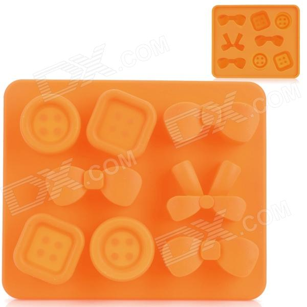 Silicone Candy Shaped Ice Cubes Trays Maker DIY Mould - Orange silicone skeleton shaped ice cubes trays maker diy mould random color