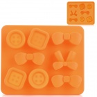 Silicone Candy Shaped Ice Cubes Trays Maker DIY Mould - Orange
