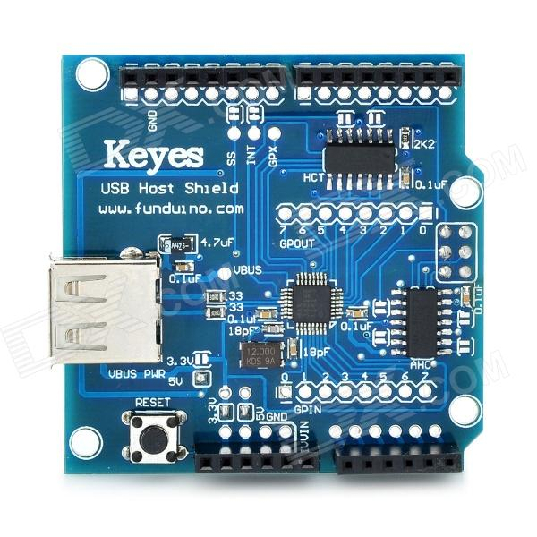 Arduino Compatible USB 2.0 Host Shield Module - Blue