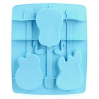 Silicone Guitar Shaped Ice Cubes Trays Maker DIY Mould - Blue