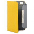 OMO Protective PU Leather Flip-Open Case for iPhone 4 / 4S - Yellow