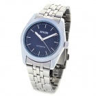Simple SINOBI Stainless Steel Band Water Resistant Mechanical Wrist Watch - Black + Silver