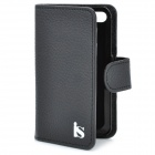 Genuine Leather Protective Case for iPhone 4 / 4S - Black