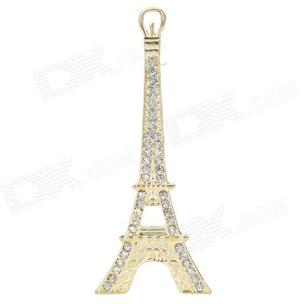 Alloy CrystalEiffel Tower DIY Ornament Decoration for Iphone / Cell Phone - Golden