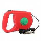 Retractable Leading Dog Leash with Plastic Shell - Red (5M)
